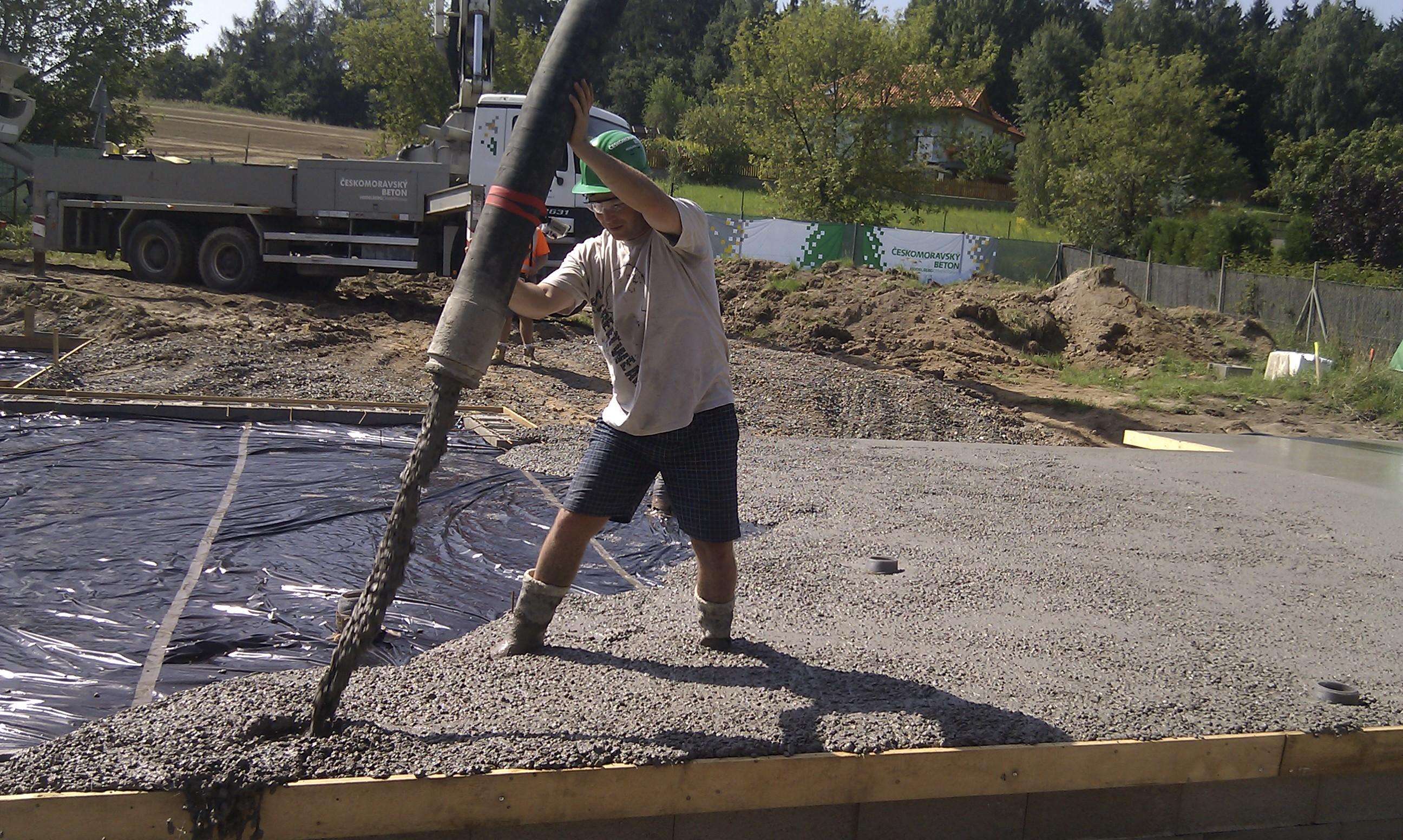 Napojení betonu
